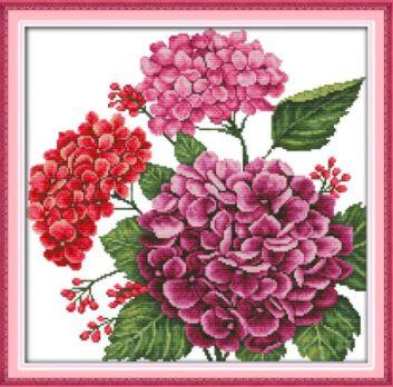 Lila virágok keresztszemes kreatív készlet
