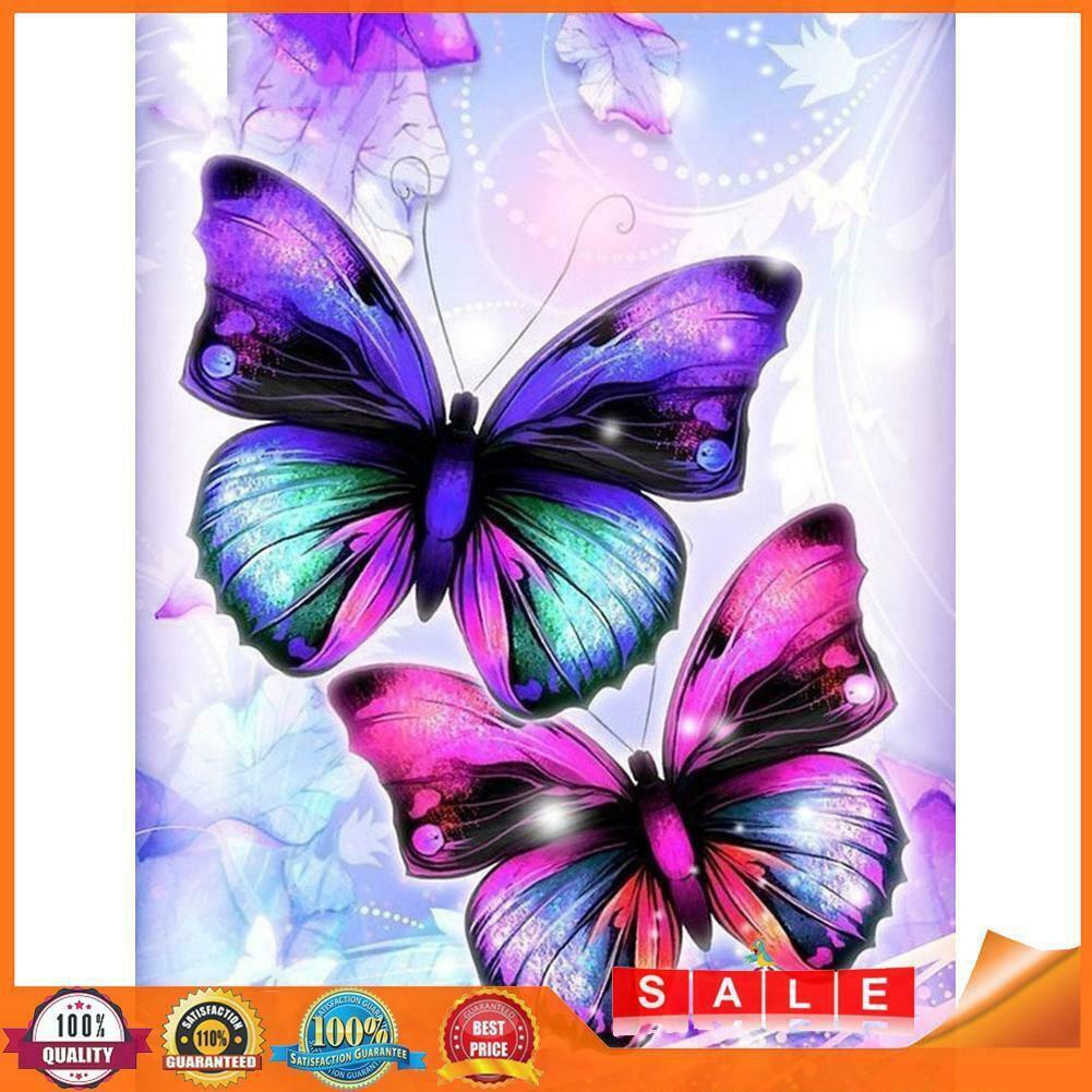 Két pillangó kreatív gyémántkirakó készlet