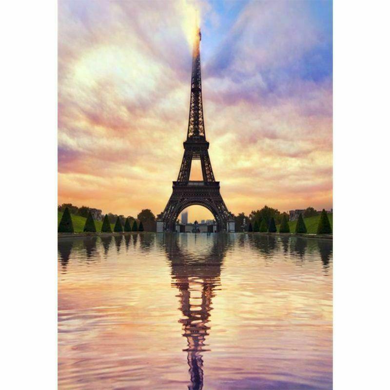 Eiffel-torony pasztell színekben kreatív gyémántkirakó készlet