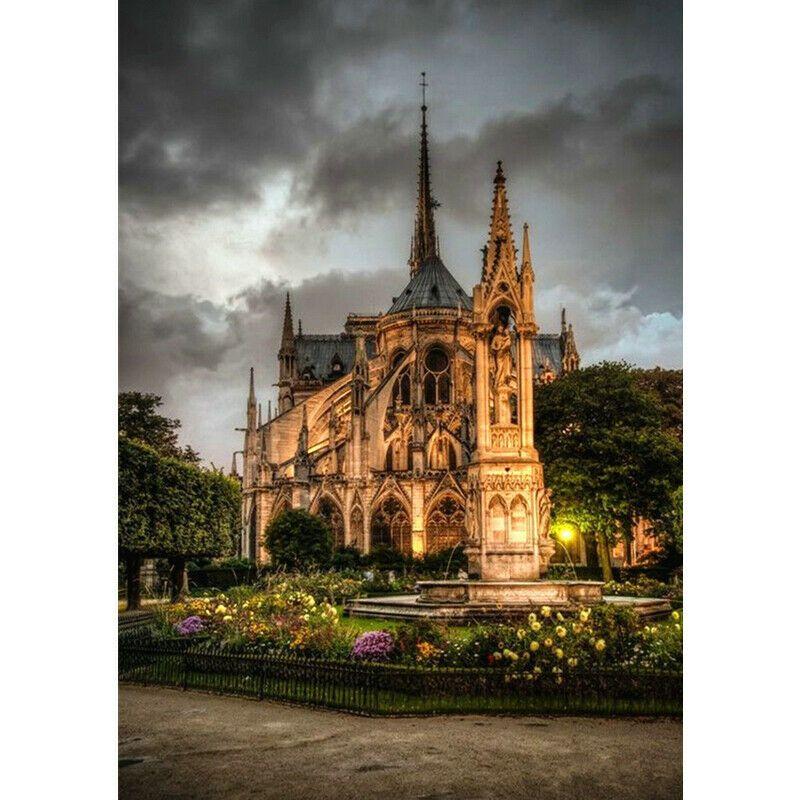 Notre-Dame szürke színvilág kreatív gyémánt kirakó készlet
