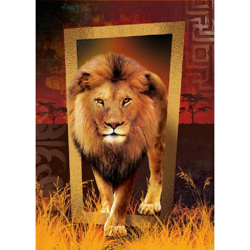 Keretből kilépő oroszlán kreatív gyémánt kirakó készlet